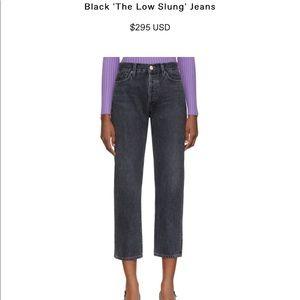 Goldsign black crop denim jeans, size 28